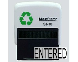 Entered SI-10 Stock Rubber Stamp